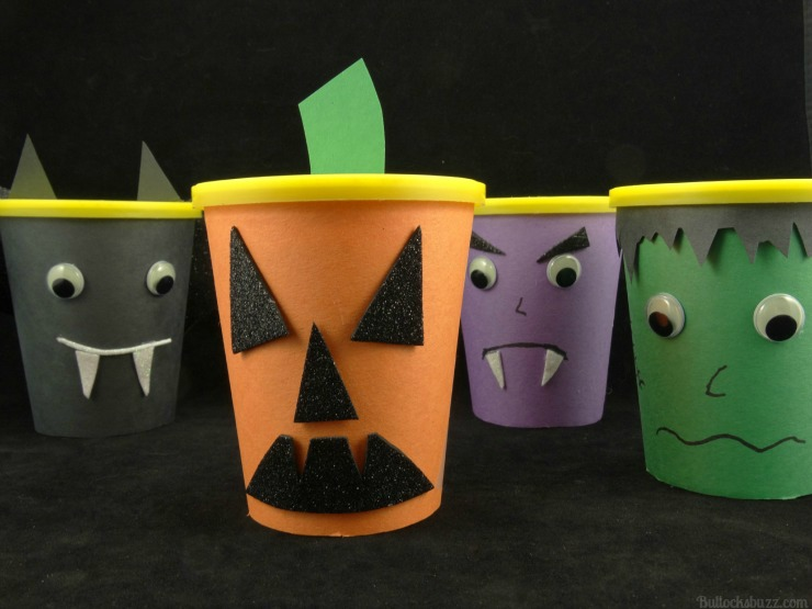 Halloween Monster Snack Cups Go Paks jack o lantern