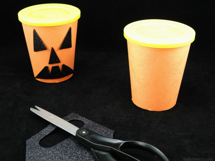 Halloween Monster Snack Cups Go Paks pumpkin materials