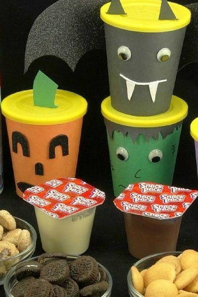Halloween Monster Snack Cups