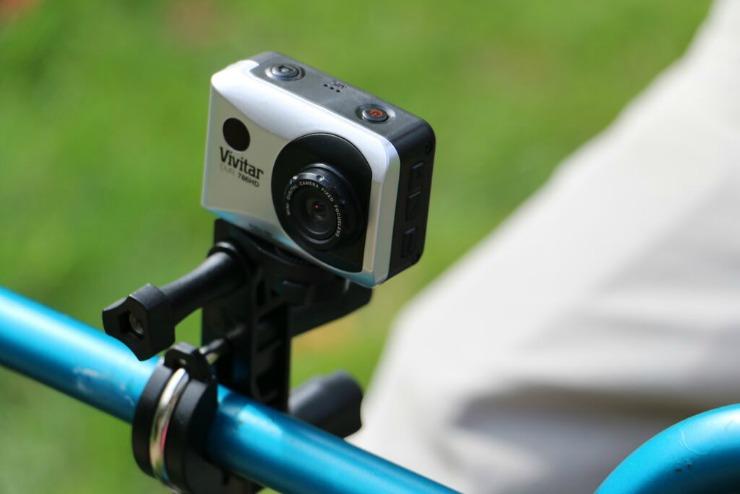 Vivitar DVR 786 HD Action Camcorder bike mount for action camera