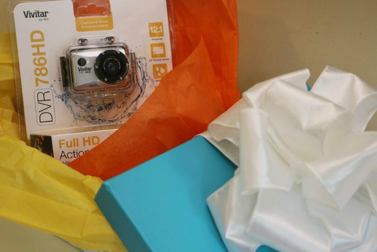Vivitar DVR 786 HD Action Camcorder gift wrapped action camera