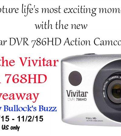 Vivitar DVR 786HD Action Camera Giveaway