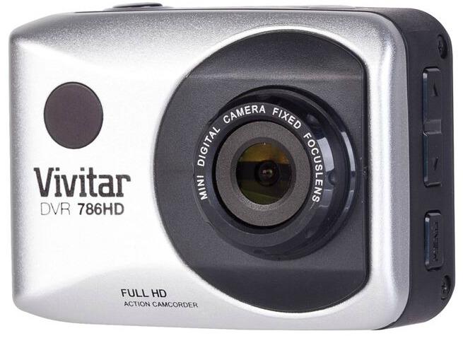 Vivitar DVR 786HD Action Camcorder side button view