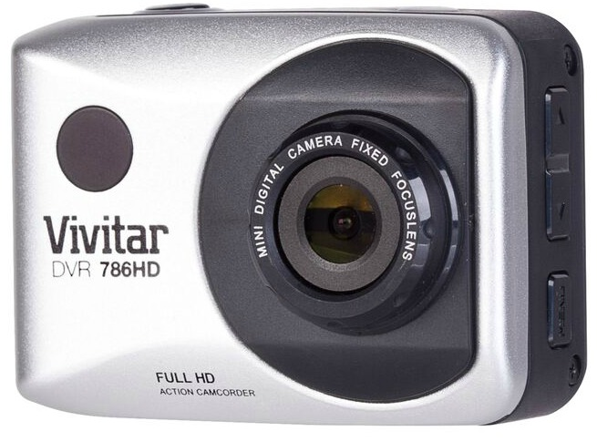 Vivitar DVR 786HD Action Camcorder side button view action camera