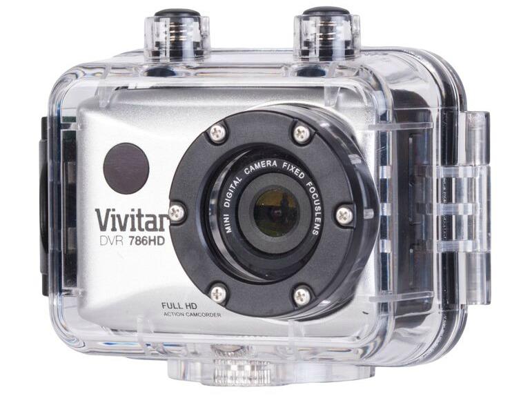 Vivitar DVR 786HD Action Camcorder submersible case action camera