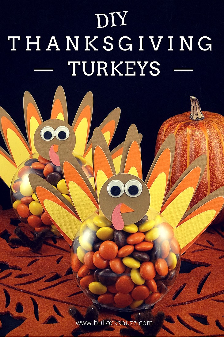 Like these DIY Halloween Candy Ornaments, then you'll love my DIY Thanksgiving Turkeys!