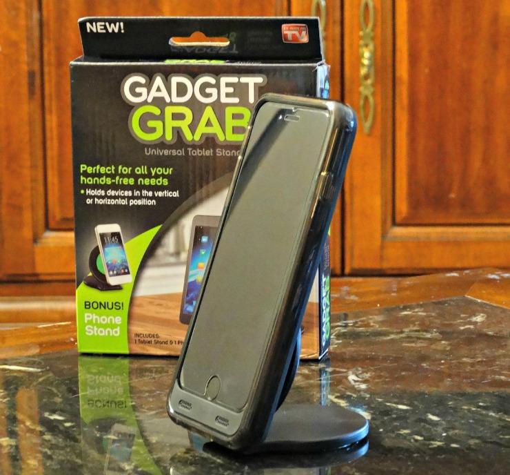 gadget grab open holding phone