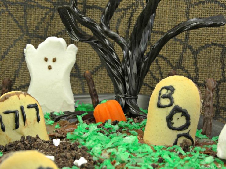 haunted graveyard fanta orange cake close up tree