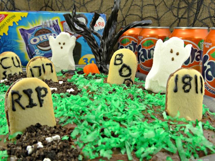 haunted graveyard fanta orange cake with OREO