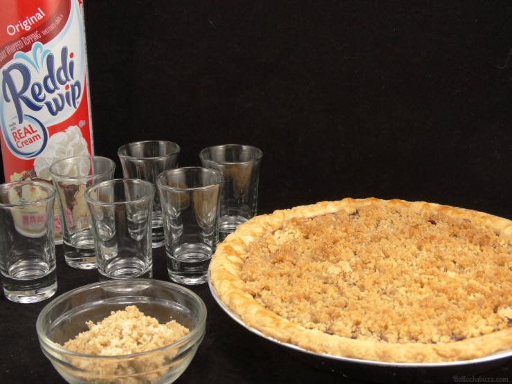 Cherry Pie Shooters Marie Callenders Dessert Pies set up