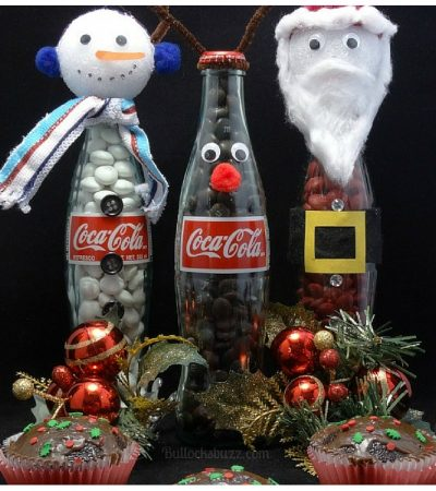 Coca-Cola Christmas Cupcakes + DIY Coke Bottle Christmas Characters