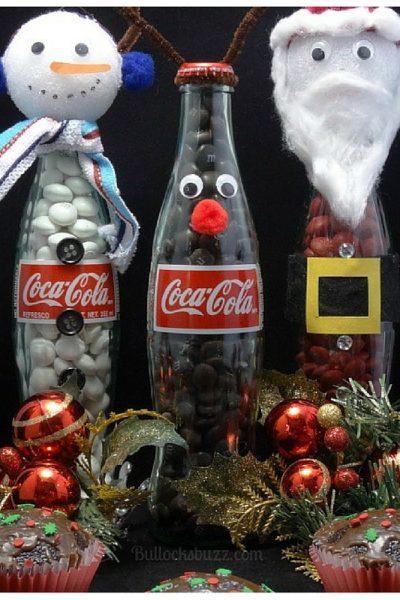 Coca-Cola Christmas Cupcakes + DIY Coke Bottle Christmas Characters