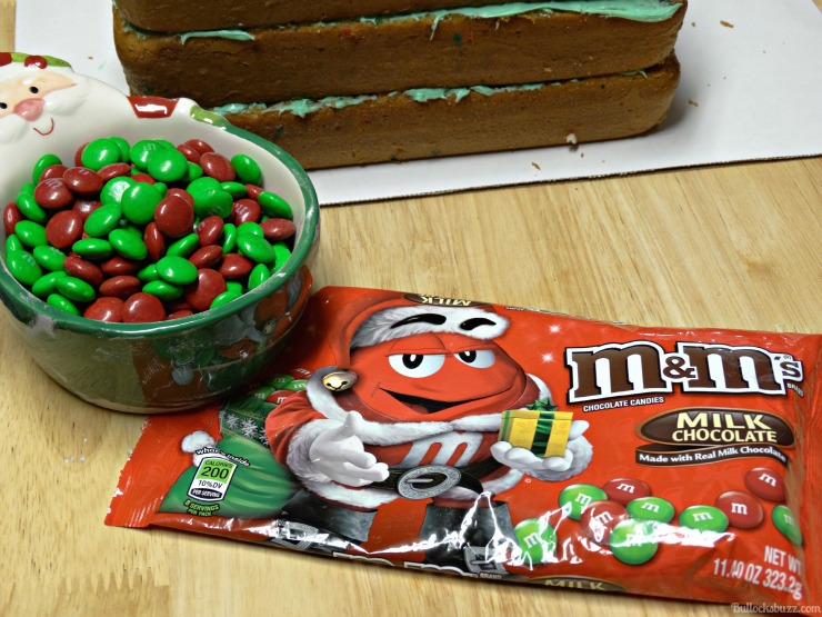 Holiday Present Pinata Cake M&M's Surprise add M&M's to the hole