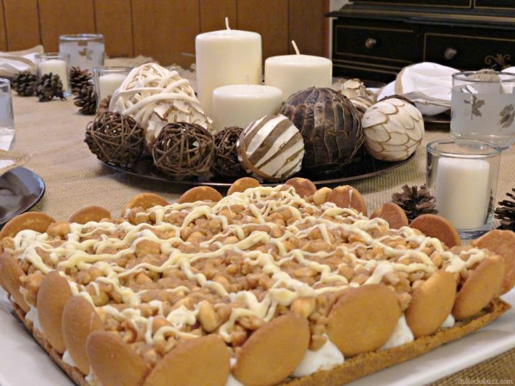 NILLA, PB and Mallow Squares Thanksgiving dessert recipe DIY centerpiece black and white