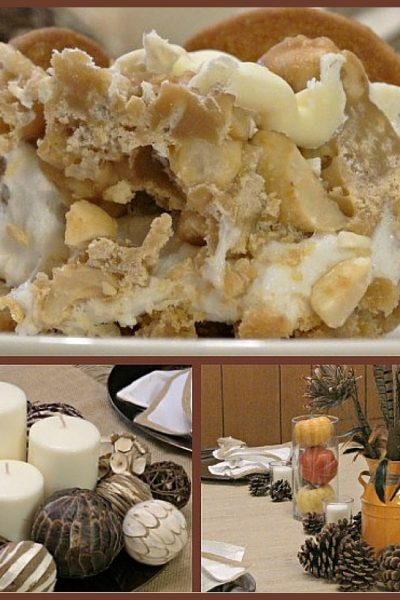 Thanksgiving Entertaining: NILLA, PB, Mallow Squares Recipe + 2 DIY Tablescapes