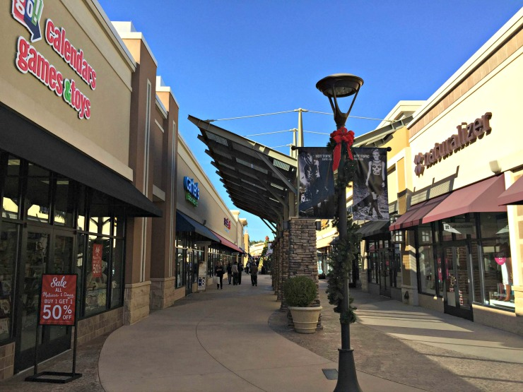 The Outlet Shops of Grand River stores in left wing