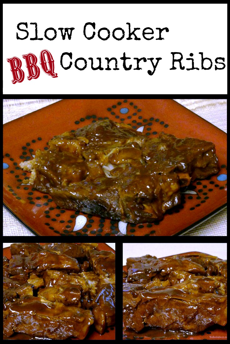 A deep south recipe for Slow Cooker Country Ribs slow cooked in your favorite BBQ sauce until the meat is practically falling off the bones!