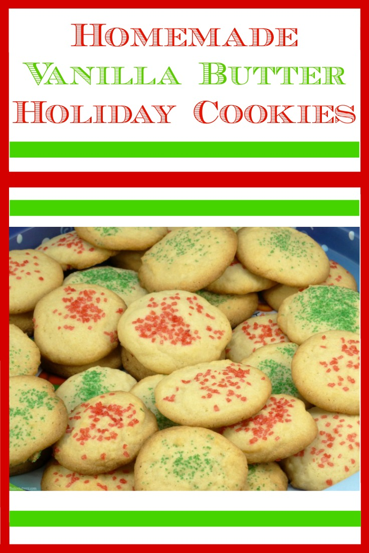 These delicious, made-from-scratch Vanilla Butter holiday cookies have an extra sweet treat in the middle!