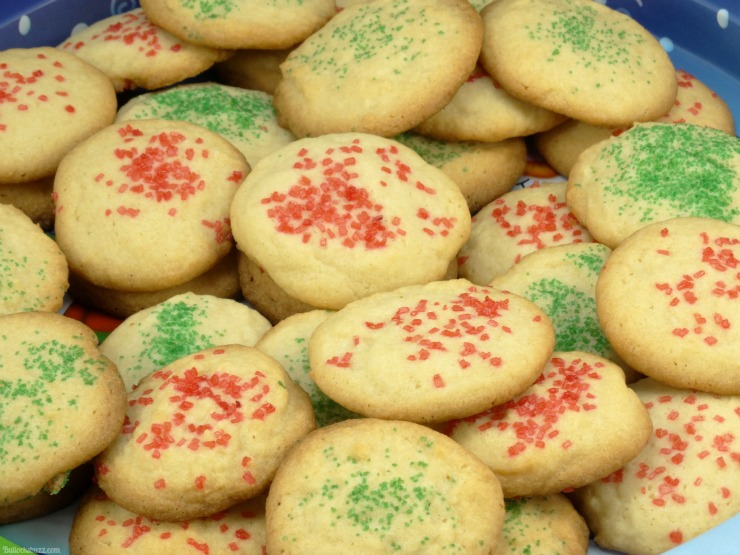 vanilla butter cookies finished cookies