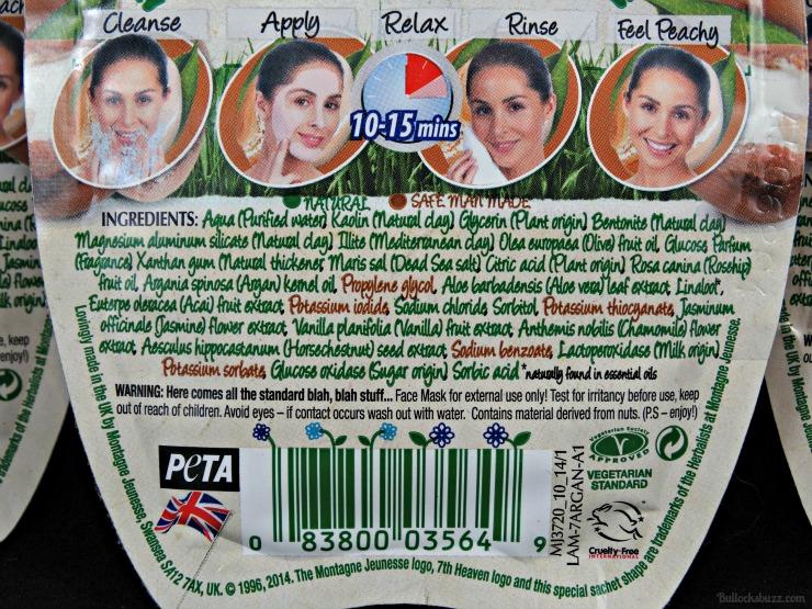 7th heaven face masks argan oil mud mask back
