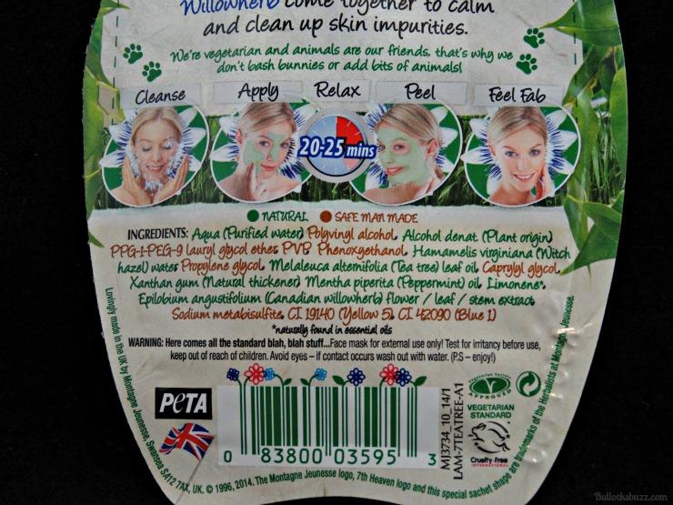 7th heaven face masks tea tree peel off mask back