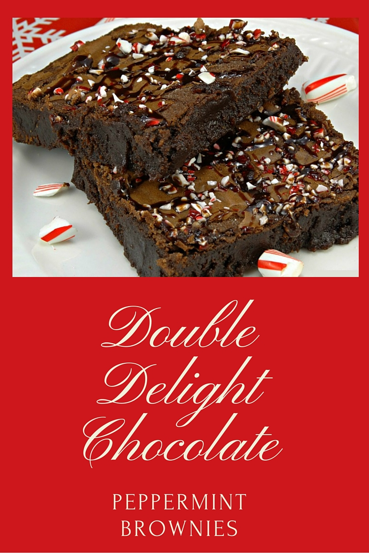 This heavenly holiday brownie recipe combines the best of both worlds: rich chocolate and cool peppermint!! Double Delight Chocolate Peppermint Brownies! Extra recipe for Hanukkah Haystacks recipe post