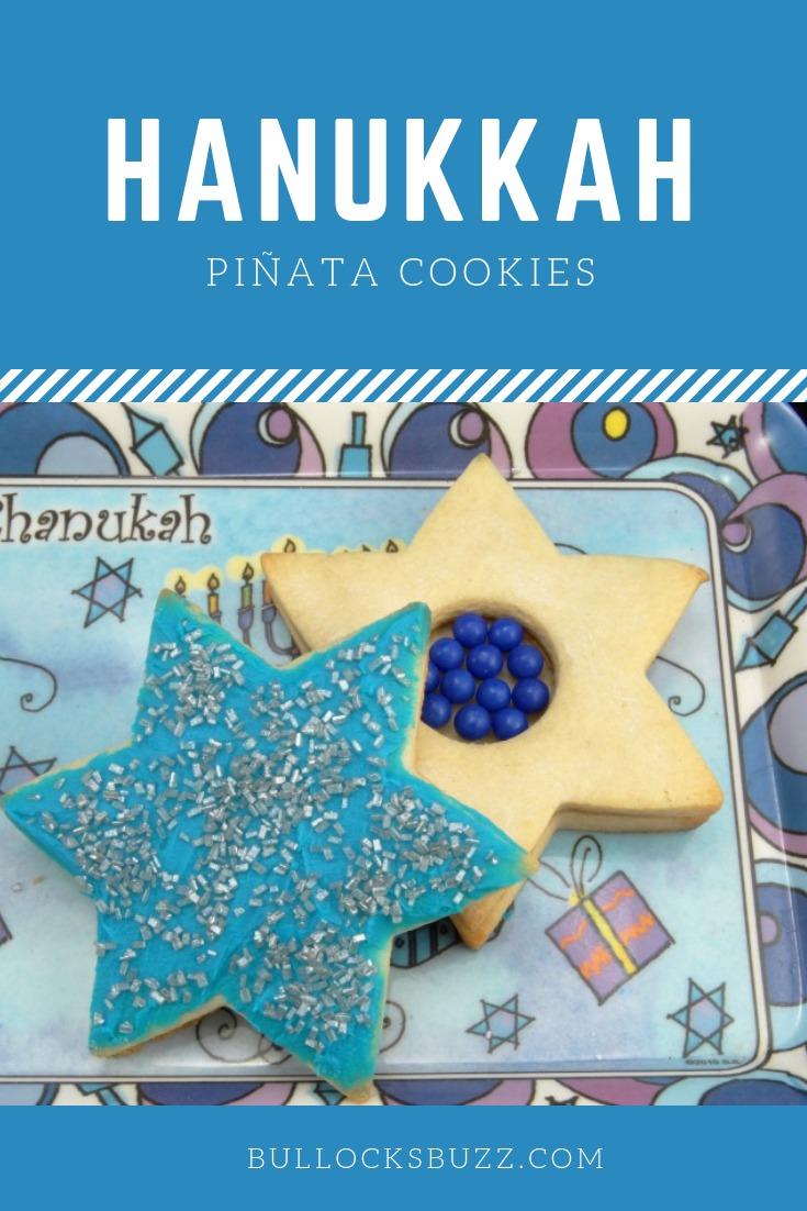 Hanukkah Pinata Cookies are fun, tasty and full of surprises! #Hanukkah #Hanukkahcookies #Hanukkahrecipes #cookies