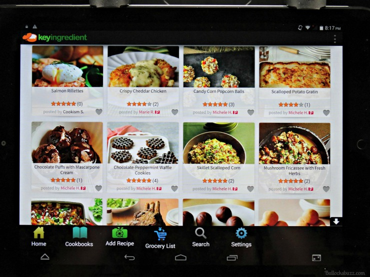 key ingredient recipe reader hd tablet app main page recipe search