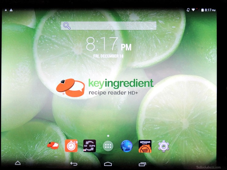 key ingredient recipe reader hd tablet main screen