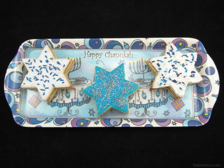 star of david surprise cookies Hanukkah holiday entertaining finished cookies