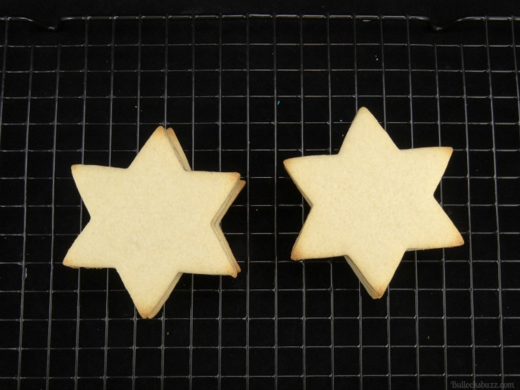 star of david surprise cookies Hanukkah holiday entertaining now add last cookie on top