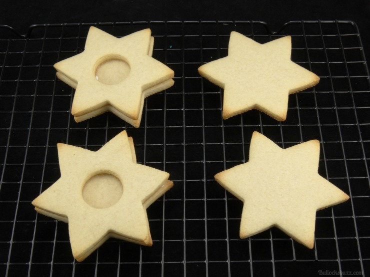 star of david surprise cookies Hanukkah holiday entertaining now add second cookie