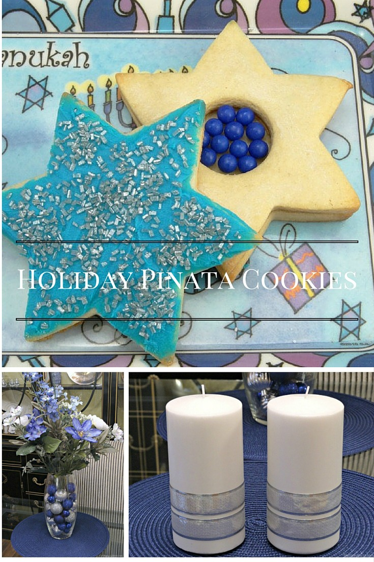 Hanukkah Piñata Cookies and holiday decorating tips