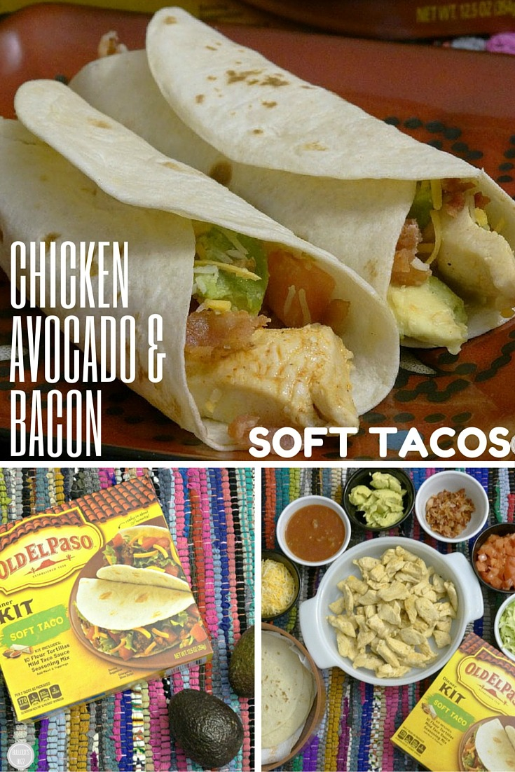 Chicken Avocado & Bacon Soft Tacos take just minutes to make.