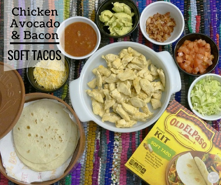 Chicken, Avocado & Bacon Soft Tacos – Game Day Recipe