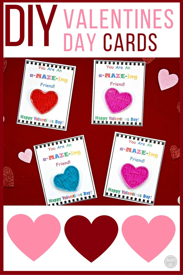 Diy valentine 39 s day cards for kids with free printable for What to put on a valentines card