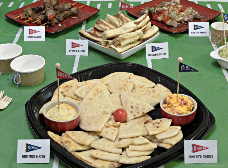 Elegant Big Game Celebration Home Gating Party Zoes Hummus Pita And Pimento Cheese