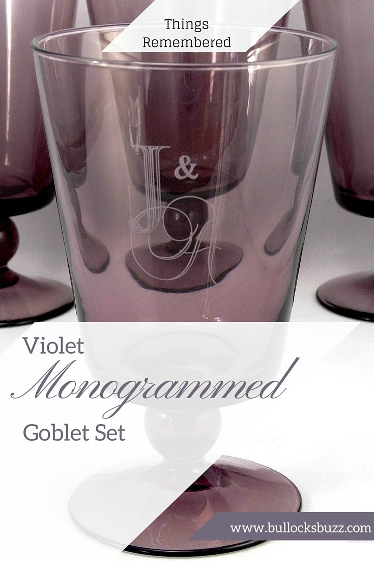 Things Remembered Violet Monogrammed Goblet Set Main Image customized gifts idea