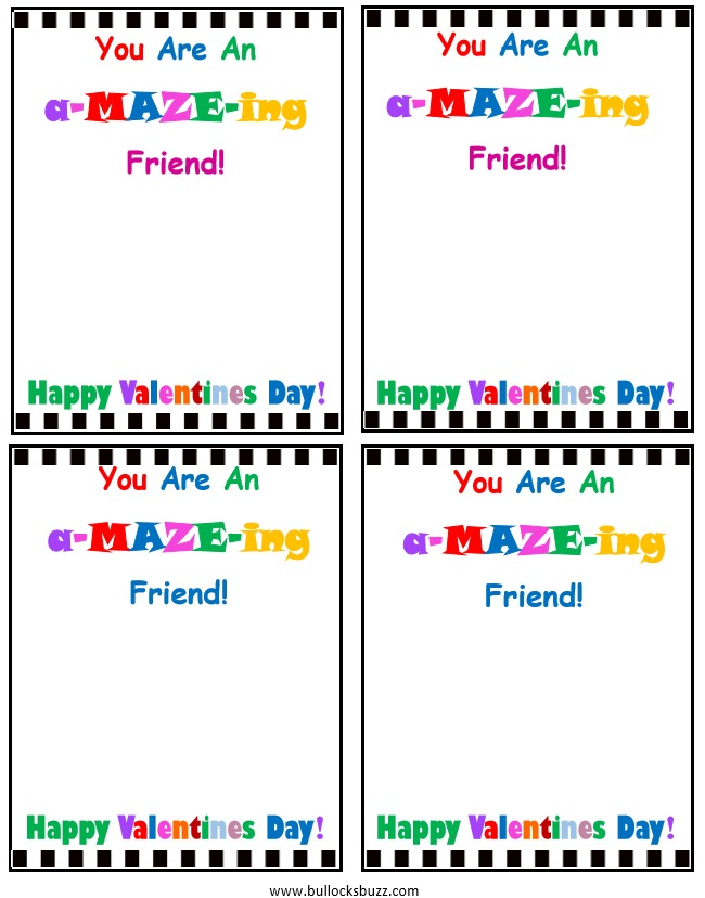 handmade valentines day cards for kids candy free you are an amazeing friend
