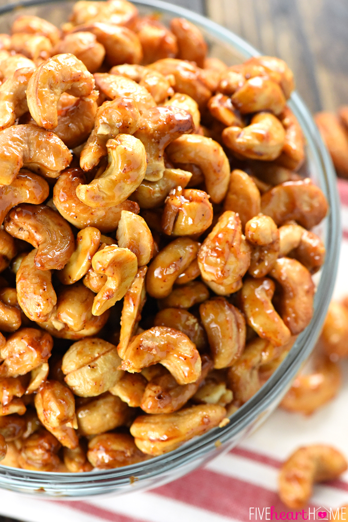 Savory Super Bowl Snacks Honey Chipotle Lime Cashews