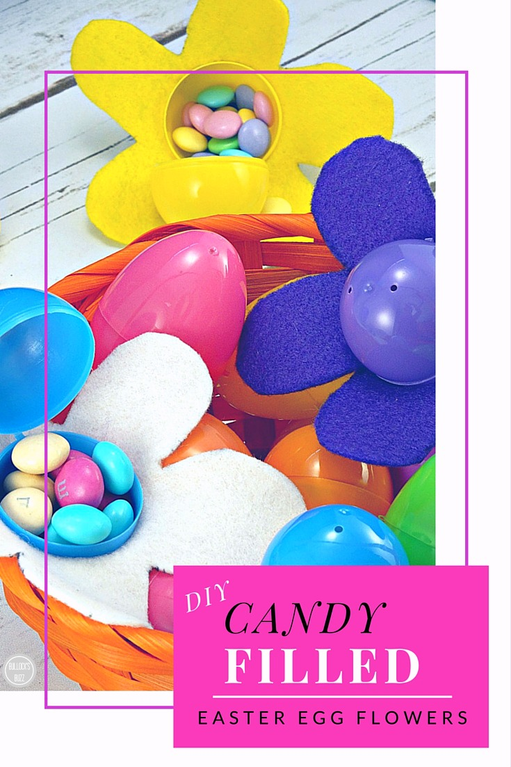 Adorable and easy DIY Easter Egg candy-filled flowers. Perfect for the gardener or flower lover!