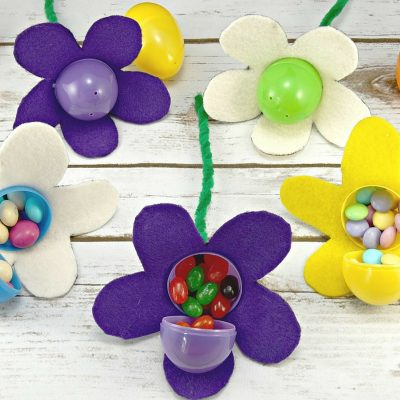 DIY Easter Basket for the Gardener + Candy-Filled Easter Egg Flowers