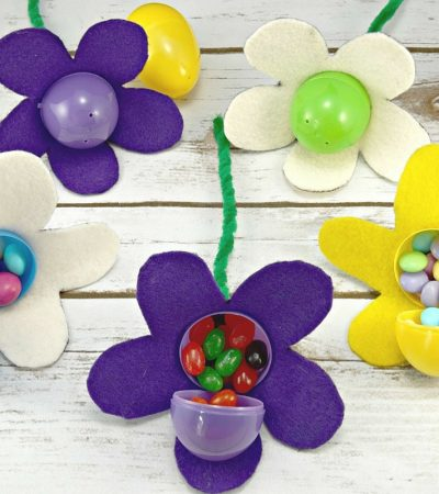 DIY Easter Basket for the Gardener + Candy-Filled Easter Egg Flowers
