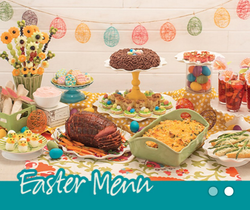 Easter menu collection from tastefully simple