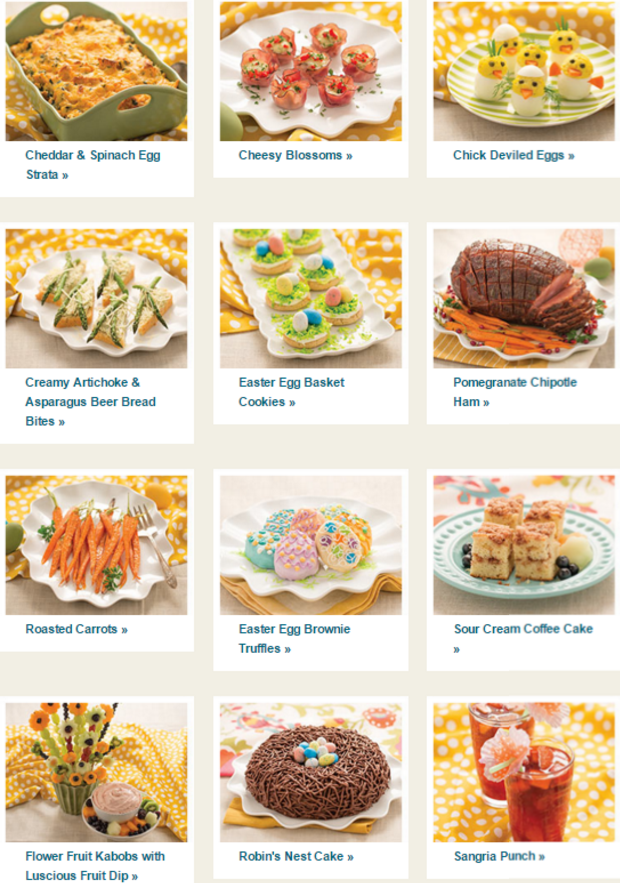 Easter menu collection from tastefully simple for Easy easter lunch menu