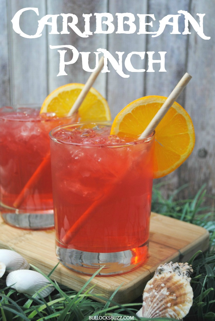 Transport yourself somewhere sunny and relaxing with this tropical fruit and coconut rum Caribbean Punch cocktail.