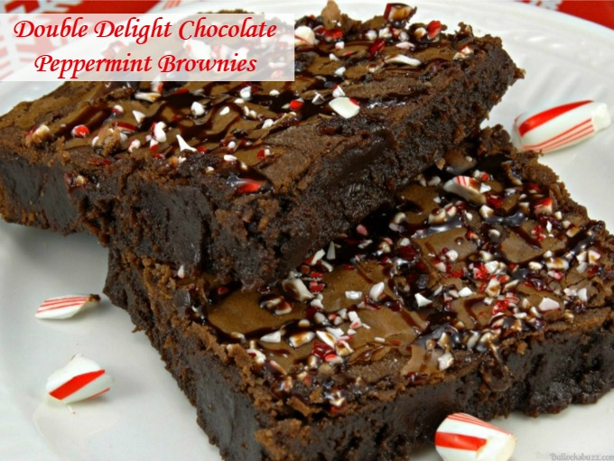 Double Delight Chocolate Peppermint Brownies