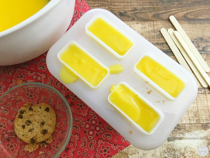 French Vanilla Pudding Pops add another layer of pudding