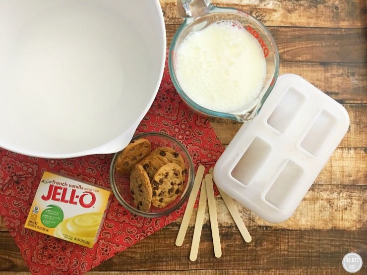 French Vanilla Pudding Pops ingredients