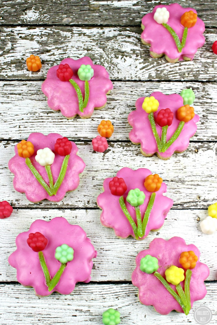 JuJu Flowers Sugar Cookies Recipe finished cookies